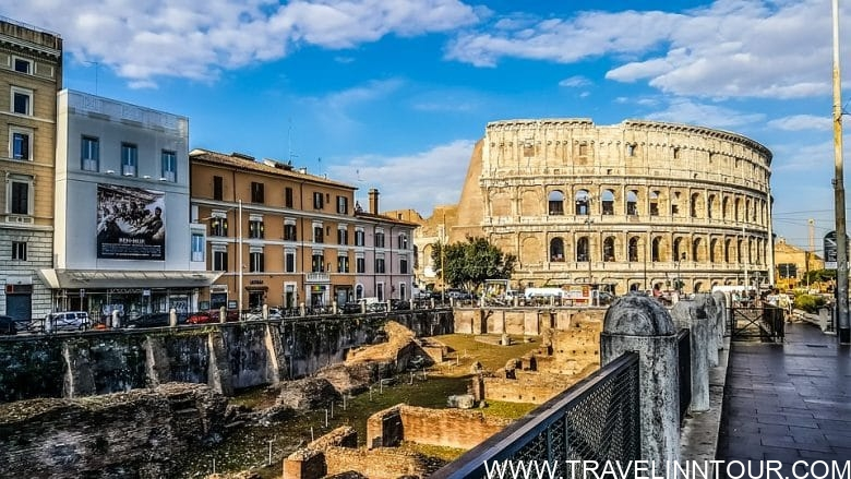Rome Colosseum Gladiator School View