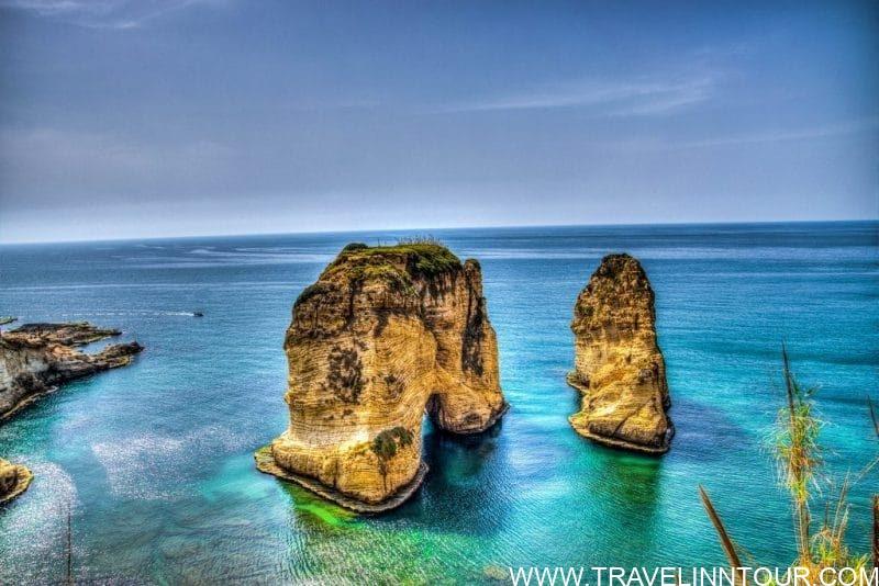 Pigeon Rock Lebanon e1546965361721 - Lebanon Travel Guide - A Week Long Road Trip