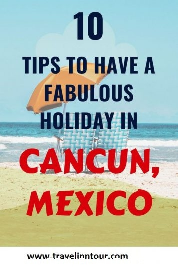 Cancun Travel Tips Pin - Ten Cancun Travel Tips For A Fun Vacation