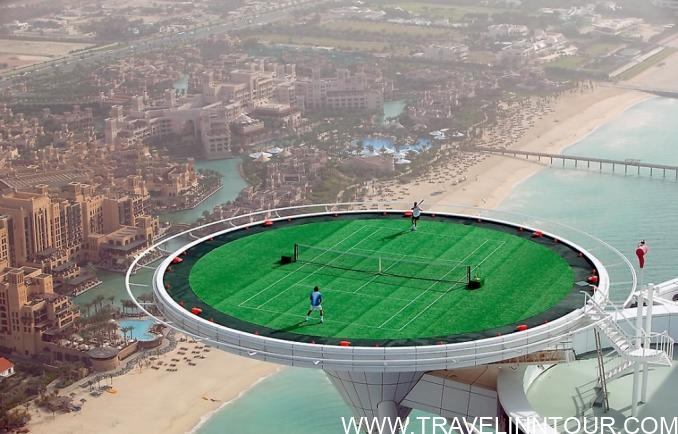 Tennis Court of Burj Al Arab e1553707811530 - 9 Most Beautiful Places to Visit Before You Die!