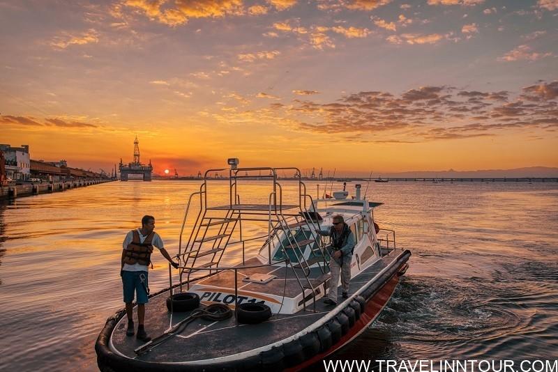 sunset at the pier in Rio de Janeiro