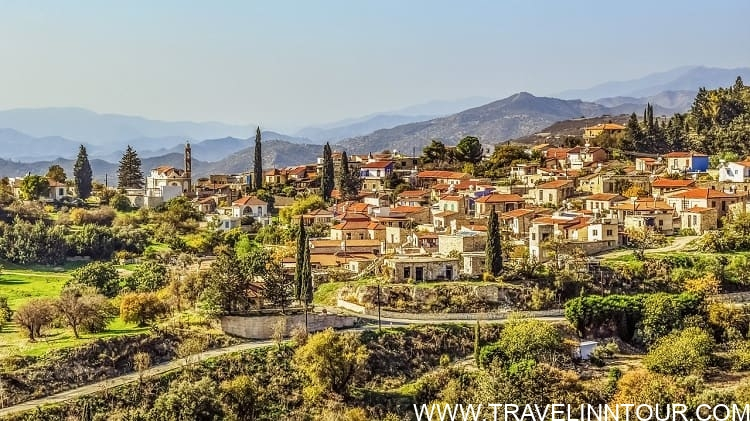 Kato Drys Village in Cyprus Southwest of Larnaca.