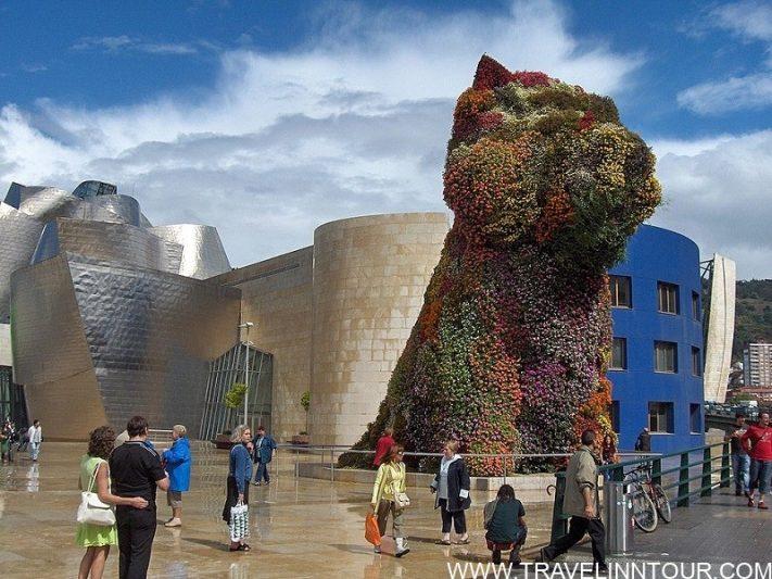 Guggenheim Museum Bilbao Puppy by Jeff Koons - Famous Art Museums