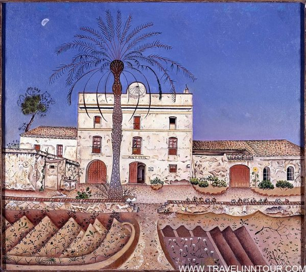 Joan Miro 1918 La casa de la palmera House with Palm Tree - Famous Art Museums