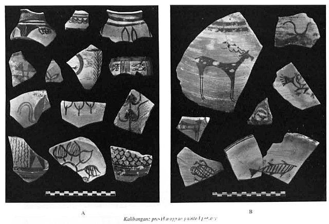 Kalibangan pre Harappan painted pottery