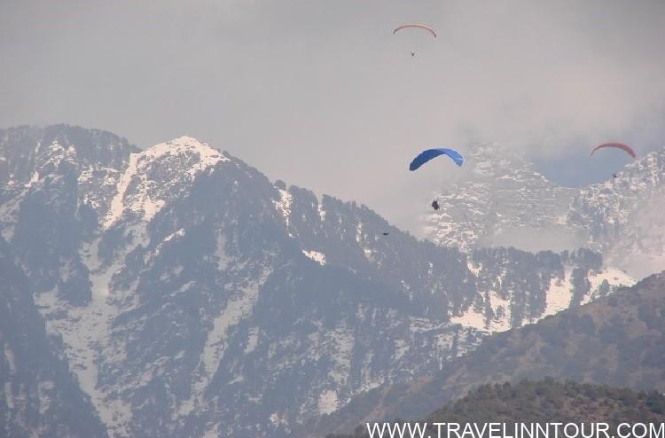 Things To Do in Dalhousie -Paragliding over Dhauladhar mountain range Himachal Pradesh