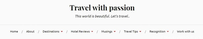 Travel With Passion, Interesting  travel blog
