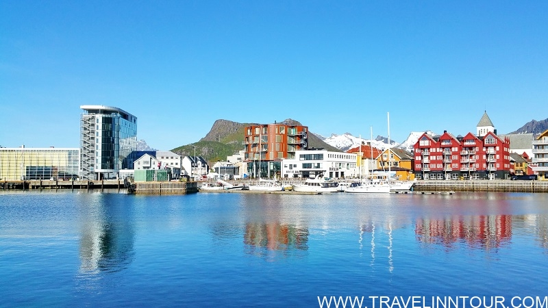 Can small towns have a skyline Svolvaer on Lofoten islands in Norway has one