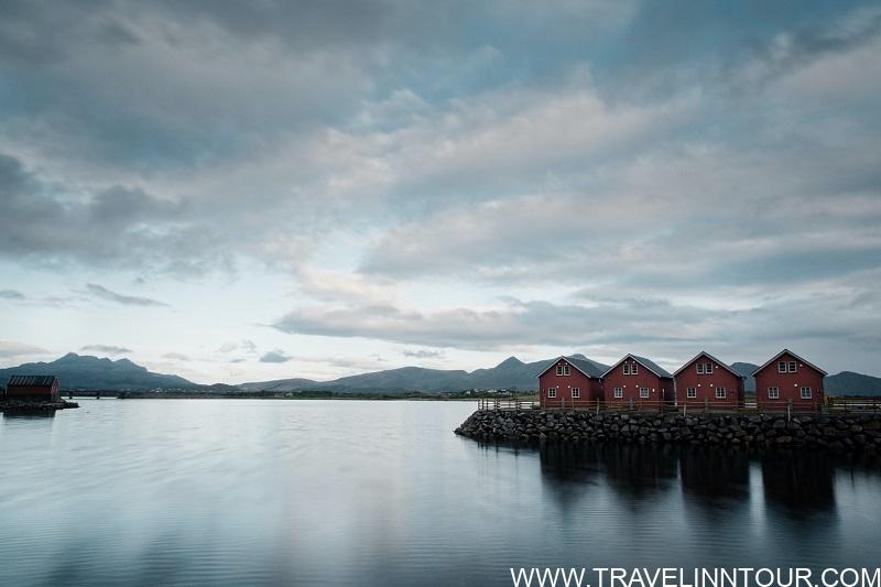 Leknes Norway Vestvagoy Famous Rorbuer cabins of the Lofoten Islands