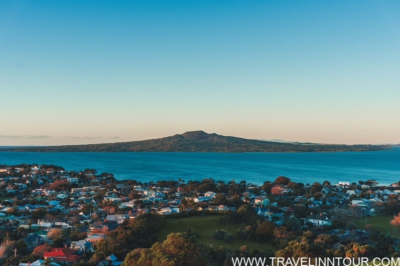 Rangitoto Island from the top of Mount Victoria