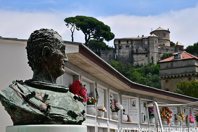 Portofino cemetery and Castello Brown