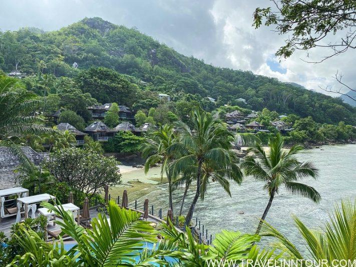 Picturesque view of Victoria Beau Vallon Seychelles.