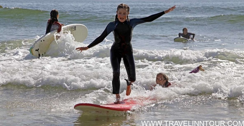 Surfing At Gale Beach